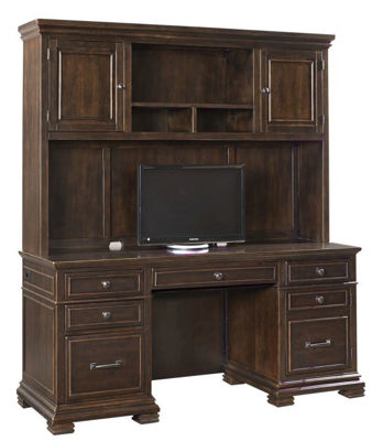 Picture of WESTON COMPUTER CREDENZA AND HUTCH