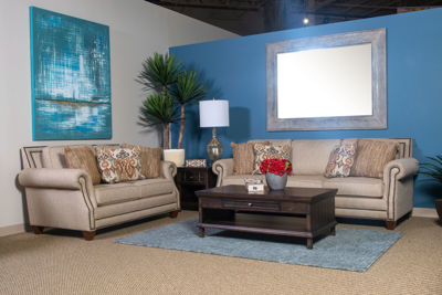Picture of RUNAROUND BEIGE LIVING ROOM SET