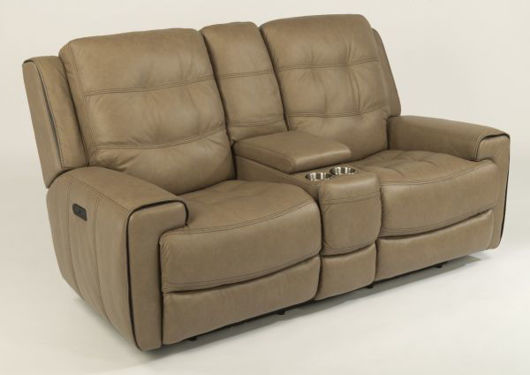 Picture of WICKLOW LEATHER POWER RECLINING LOVSEAT