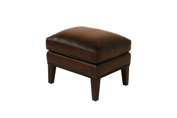 Picture of HILLSBORO BOMBER JACKET LEATHER ACCENT OTTOMAN