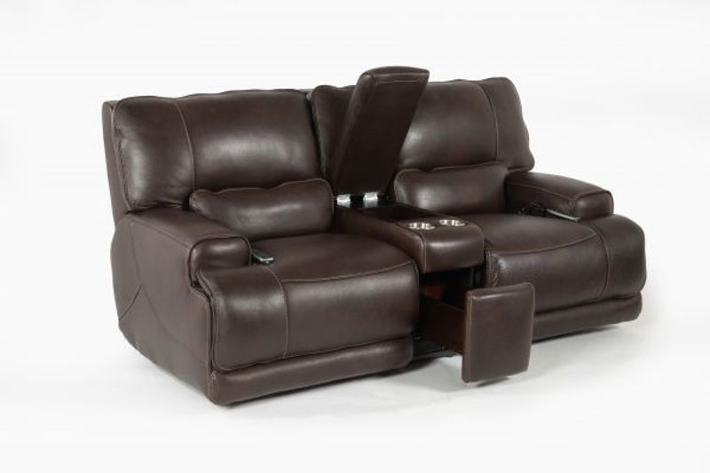 Picture of BERGAMO ALL LEATHER POWER RECLINING LOVESEAT