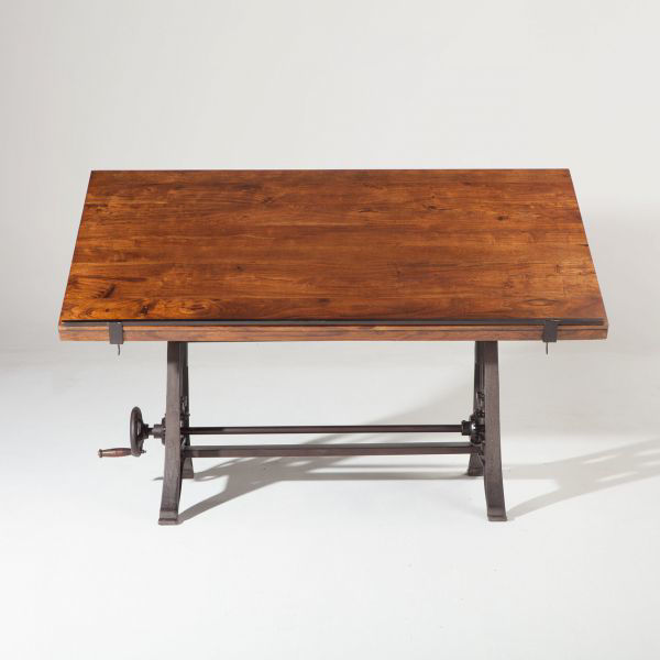 Picture of URBAN INDUSTRIAL SOLID WOOD ADJUSTABLE DRAFTING DESK