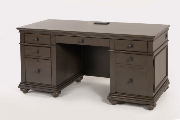 Picture of OXFORD PEPPER CORN COMPUTER CREDENZA DESK