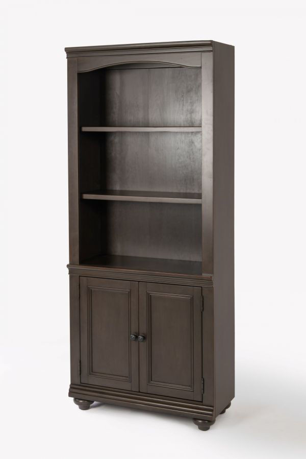 Picture of OXFORD PEPPER.CORN DOOR BOOKCASE