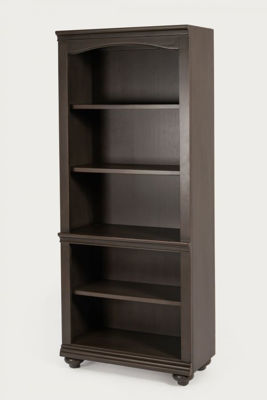 Picture of OXFORD PEPPER.CORN OPEN BOOKCASE