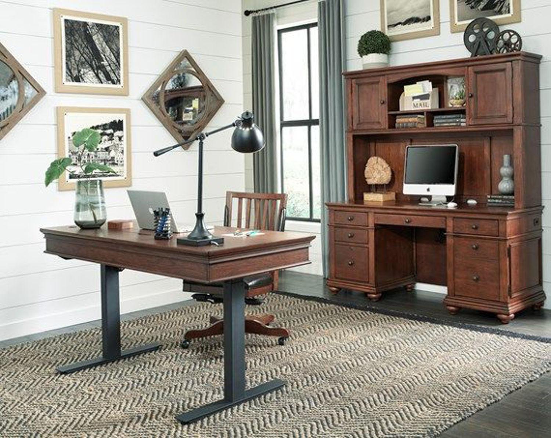 Oxford 60 Adj Desk By Aspen Home Furniture Texas Furniture Hut