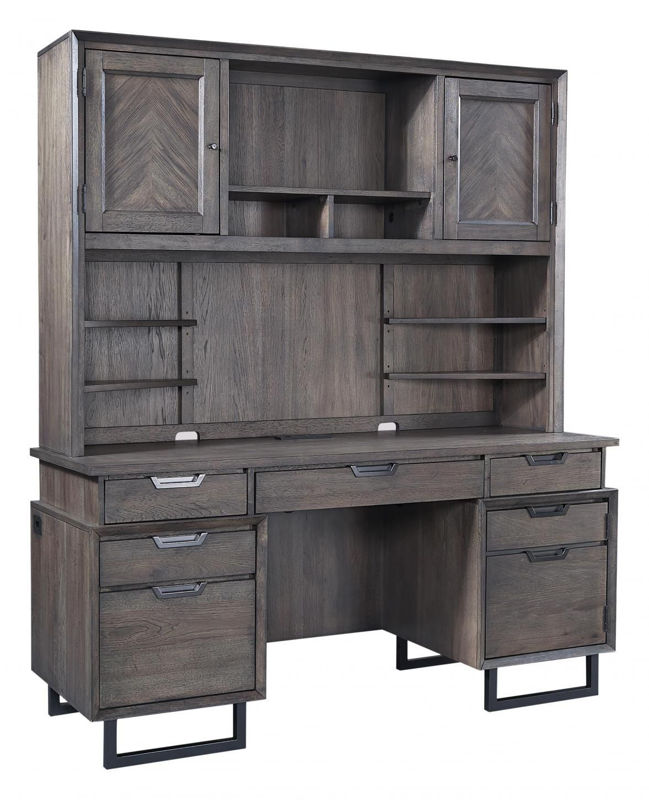 Picture of HARPER POINT COMPUTER CREDENZA AND HUTCH
