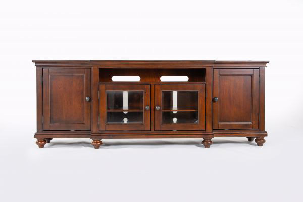 """Picture of OXFORD WHISKEY BROWN 86"""" CONSOLE"""