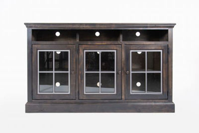 """Picture of CHURCHILL 66"""" GHOST BLACK HIGHBOY TV CONSOLE"""
