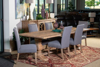 Picture of CORDOBA SOLID WOOD RECTANGULAR DINING SET
