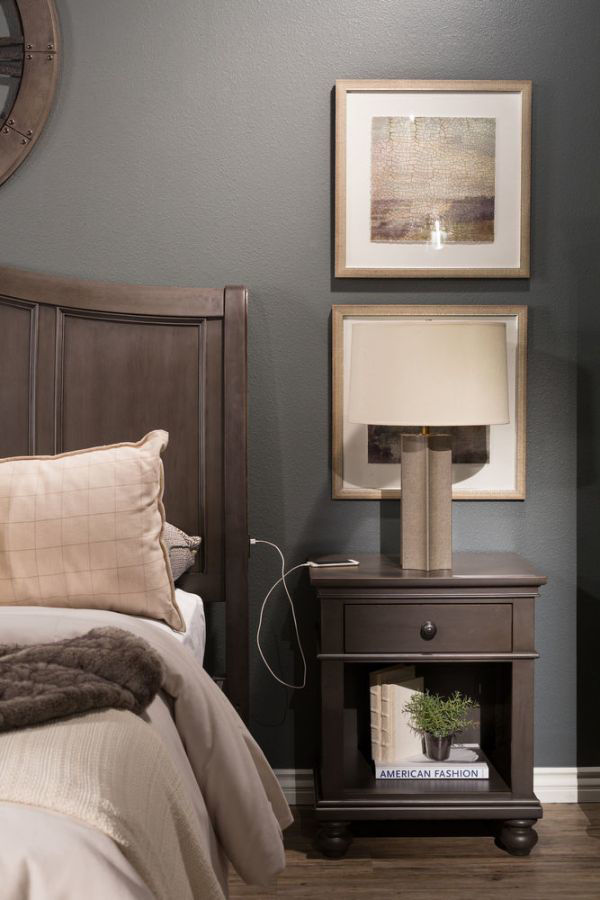 Picture of OXFORD PEPPER CORN 1 DRAWER NIGHTSTAND