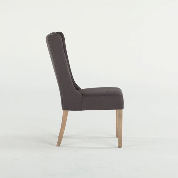 Picture of MARIETTA TUFTED GRAY SIDE CHAIR
