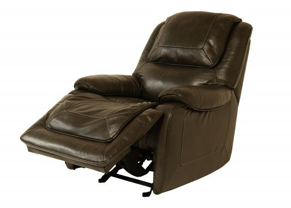 Picture of CHARCOAL ALL LEATHER POWER GLIDING RECLINER