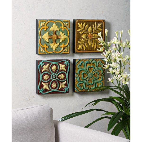 Picture of CASA MEDALLION TILES SET OF 4