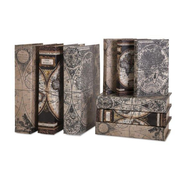 Picture of MAP BOOK BOXES - SET OF 9