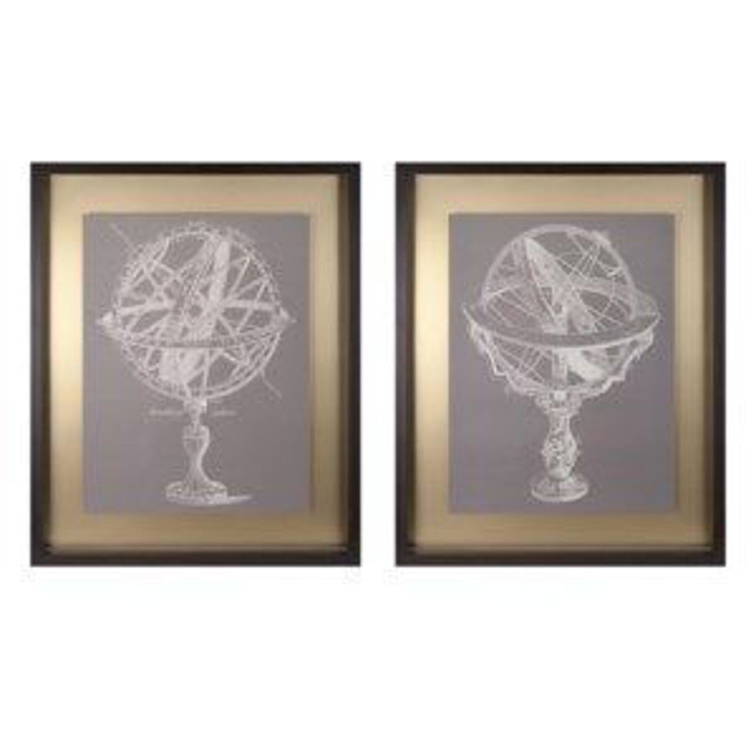 Picture of ARMILLARY FRAMED WALL - AST 2