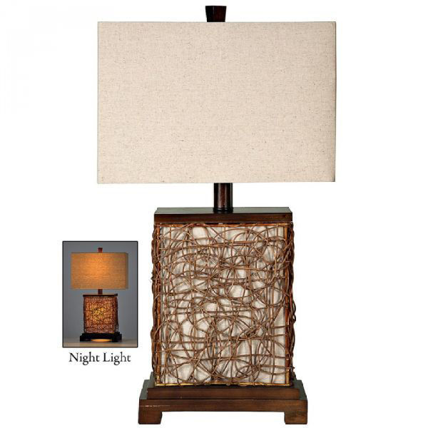 Picture of CANVAS ENCLOSED TABLE LAMP