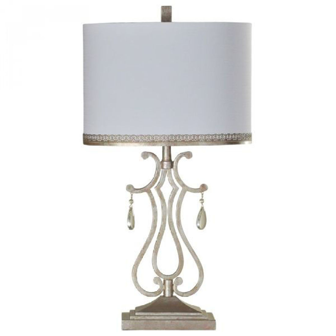 Picture of CYSTAL CREST METAL TABLE LAMP