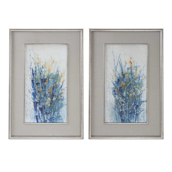 Picture of INDIGO FLORALS FRAMED PRINTS
