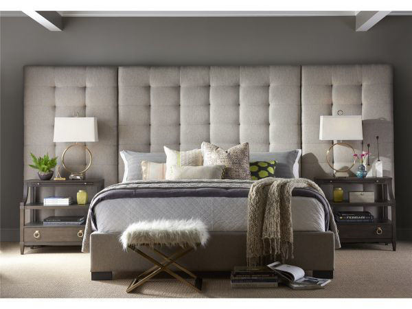 Picture of CAMILLE QUEEN PANEL UPHOLSTERED BED
