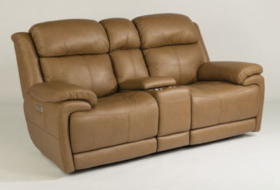 Picture of ELIJAH LEATHER POWER RECLINING LOVESEAT