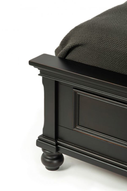 Picture of OXFORD BLACK QUEEN STORAGE BED