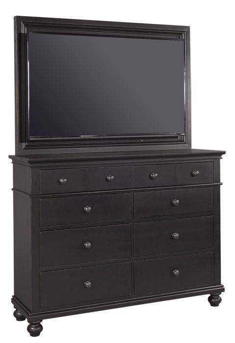 Picture of OXFORD BLACK KING PANEL STORAGE BEDROOM SET
