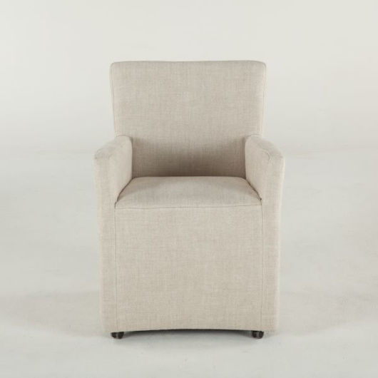 Picture of PAMELA LINEN DINING ARM CHAIR