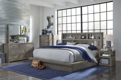 Picture of MODERN LOFT QUEEN PLATFORM BEDROOM SET