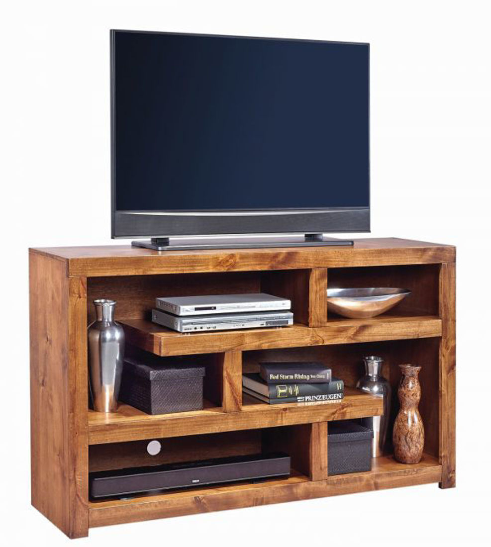 """Picture of CON ALDER FRUITWOOD 60"""" OPEN TV CONSOLE"""