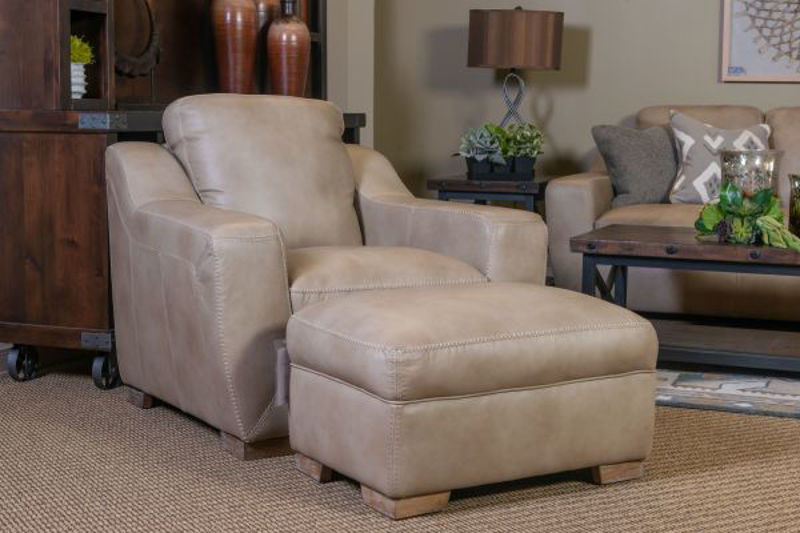 Picture of LUX LINEN ALL LEATHER LIVING ROOM SET