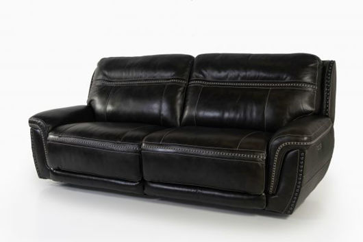 Picture of LONGHORN PEWTER ALL LEATHER POWER RECLINING SOFA