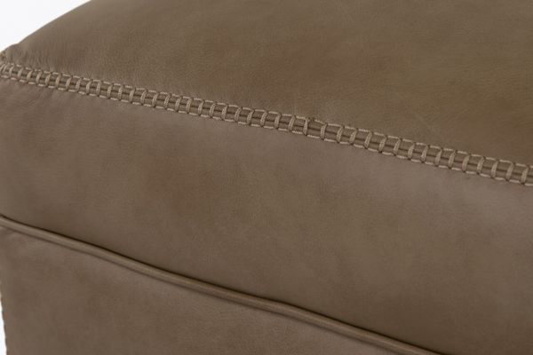 Picture of LUXE LINEN LEATHER OTTOMAN