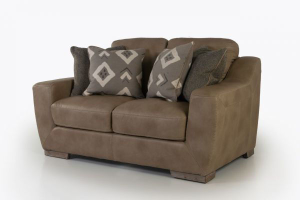 Picture of LUXE LINEN ALL LEATHER LOVESEAT