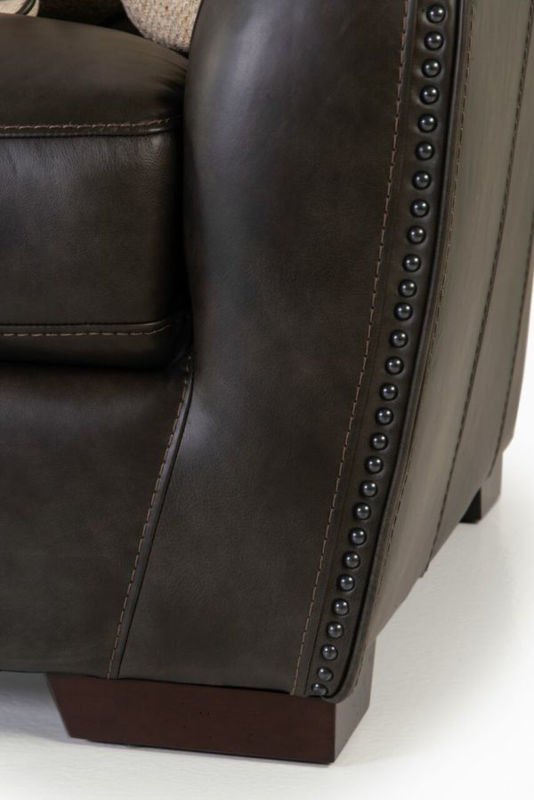 Picture of LUXE COAL ALL LEATHER SOFA