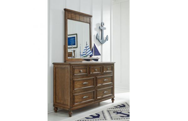 Picture of LAKE HOUSE BROWN VERTICAL MIRROR
