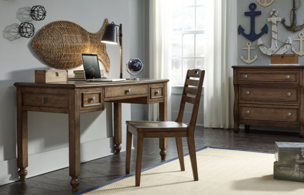 Picture of LAKE HOUSE BROWN DESK CHAIR