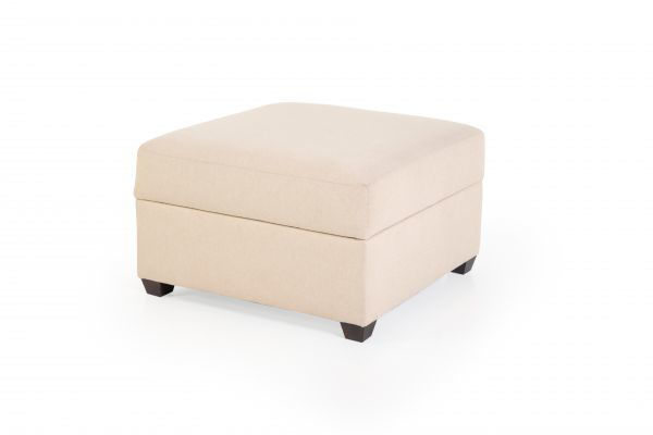 Picture of FOXY TAN UPHOLSTERED STORAGE OTTOMAN
