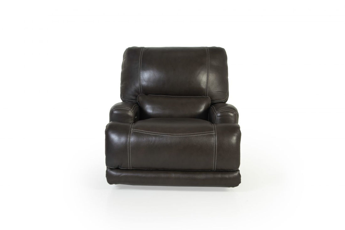 Picture of FERRARA SMOKE ALL LEATHER POWER GLIDING RECLINER