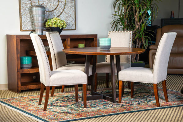 Picture of ALEXANDRIA ROUND SOLID WOOD DINING SET