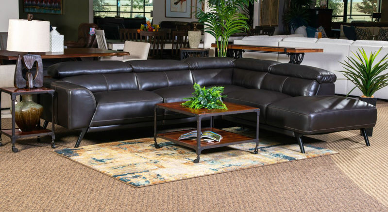 Picture of CAESAR ESPRESSO LEATHER RAF SECTIONAL
