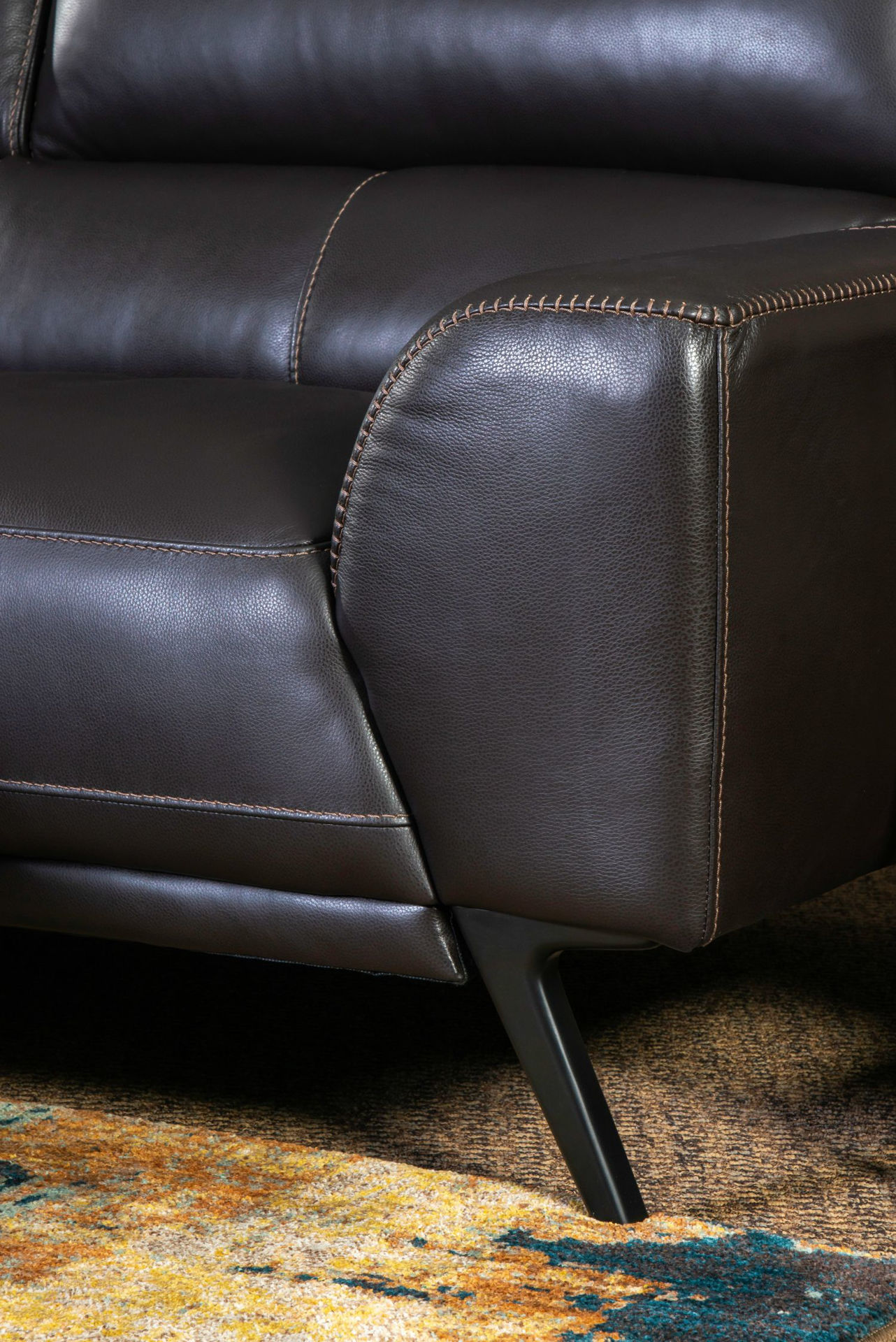 Picture of CAESAR ESPRESSO LEATHER LAF SECTIONAL