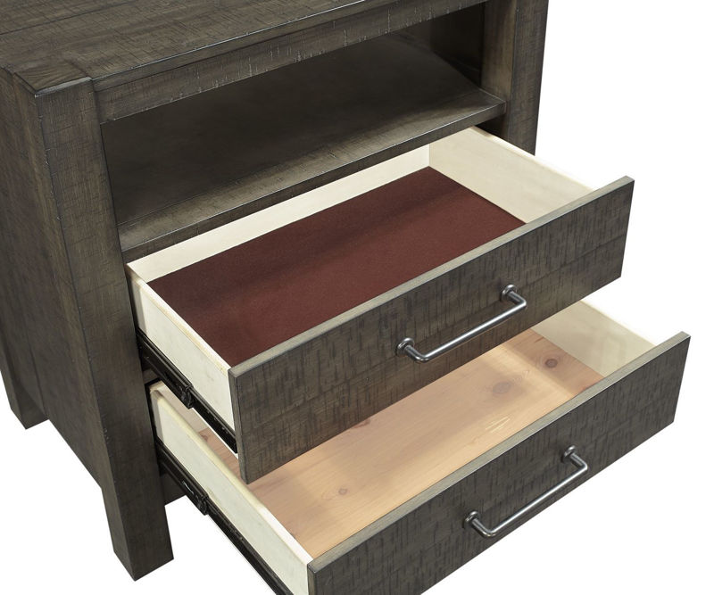 Picture of MILL CREEK 2 DRAWER NIGHTSTAND