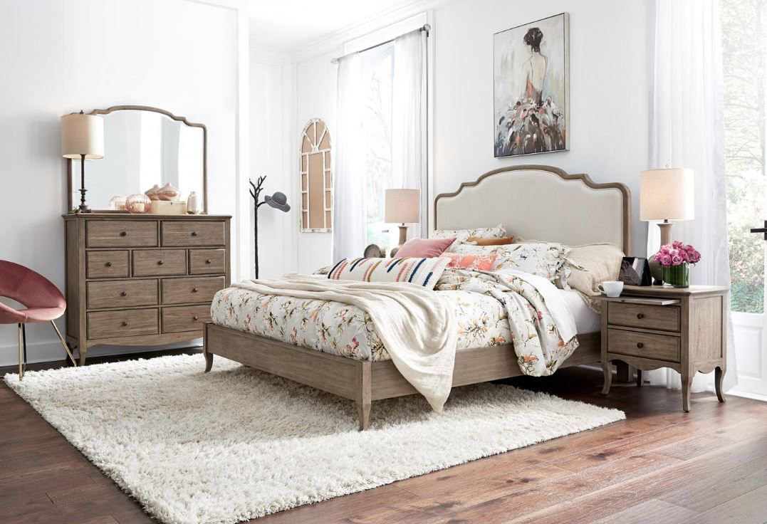 Provence Queen Upholstered Bedroom Set By Aspen Home Furniture Texas Furniture Hut