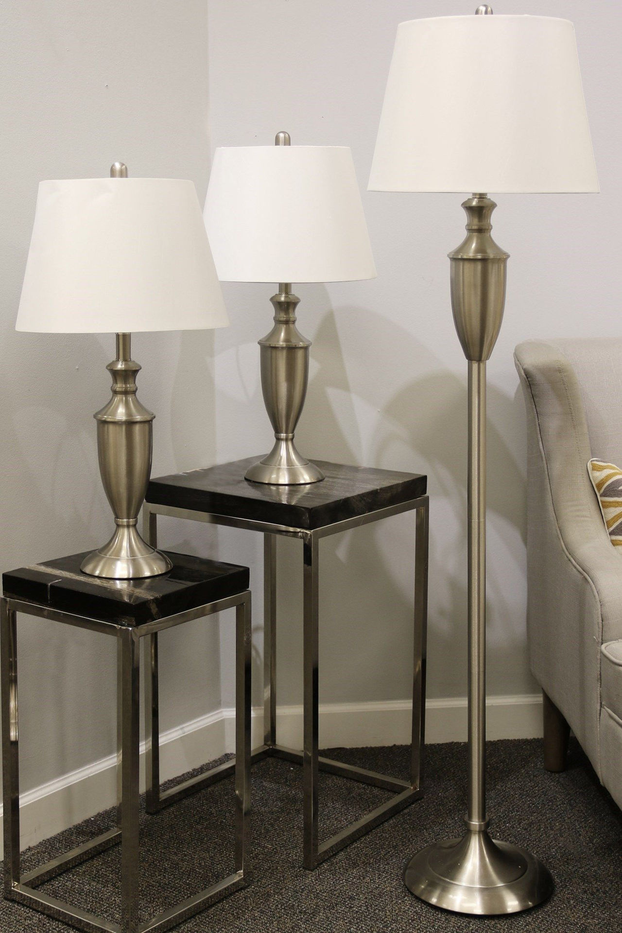 Picture of BRUSHED STEEL LAMPS