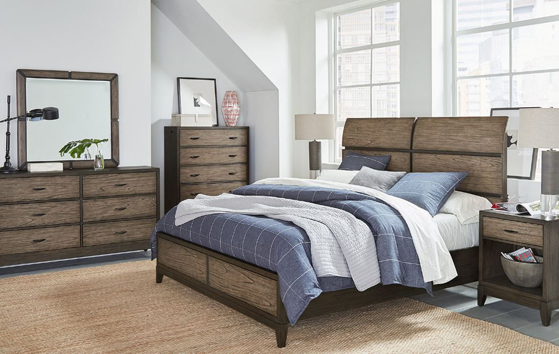 Picture of WESTLAKE KING SLEIGH BEDROOM SET