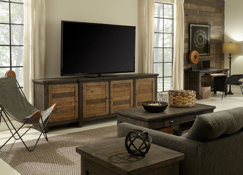 """Picture of SUFFOLK 96"""" TV CONSOLE"""
