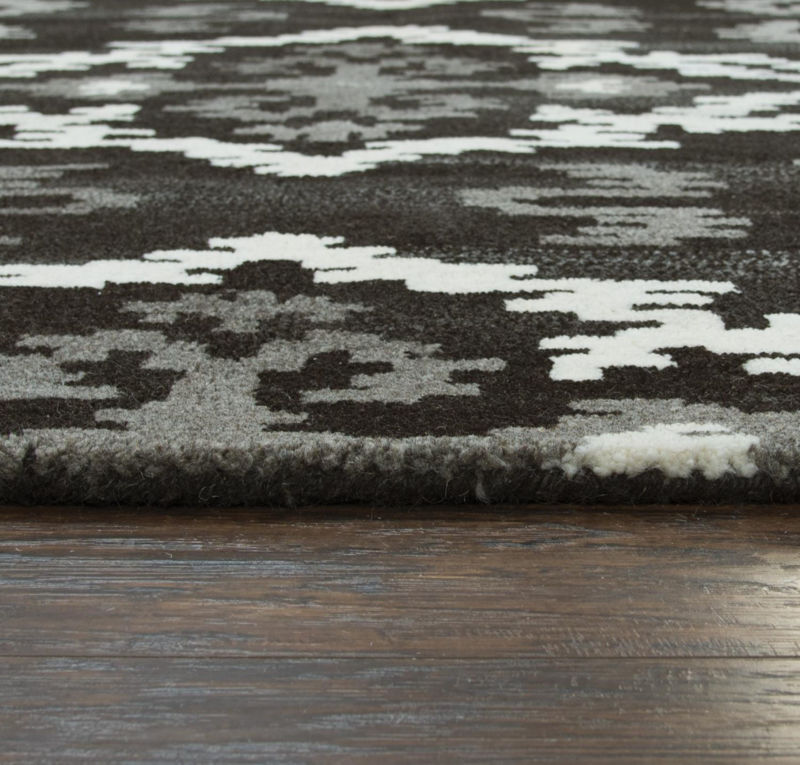 Picture of SUFFOLK BLACK WOOL RUG