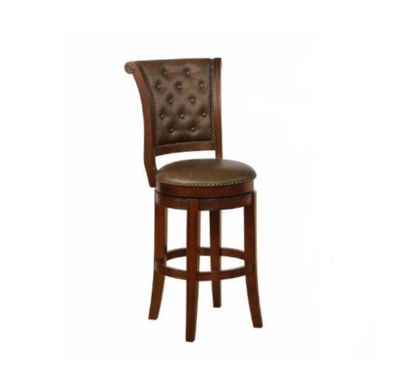 "Picture of GRANVILLE 29"" ESPRESSO SWIVEL BAR STOOL"