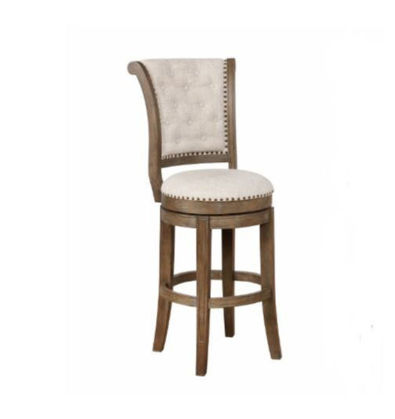 "Picture of GRANVILLE 29"" GRAY SWIVEL BAR STOOL"